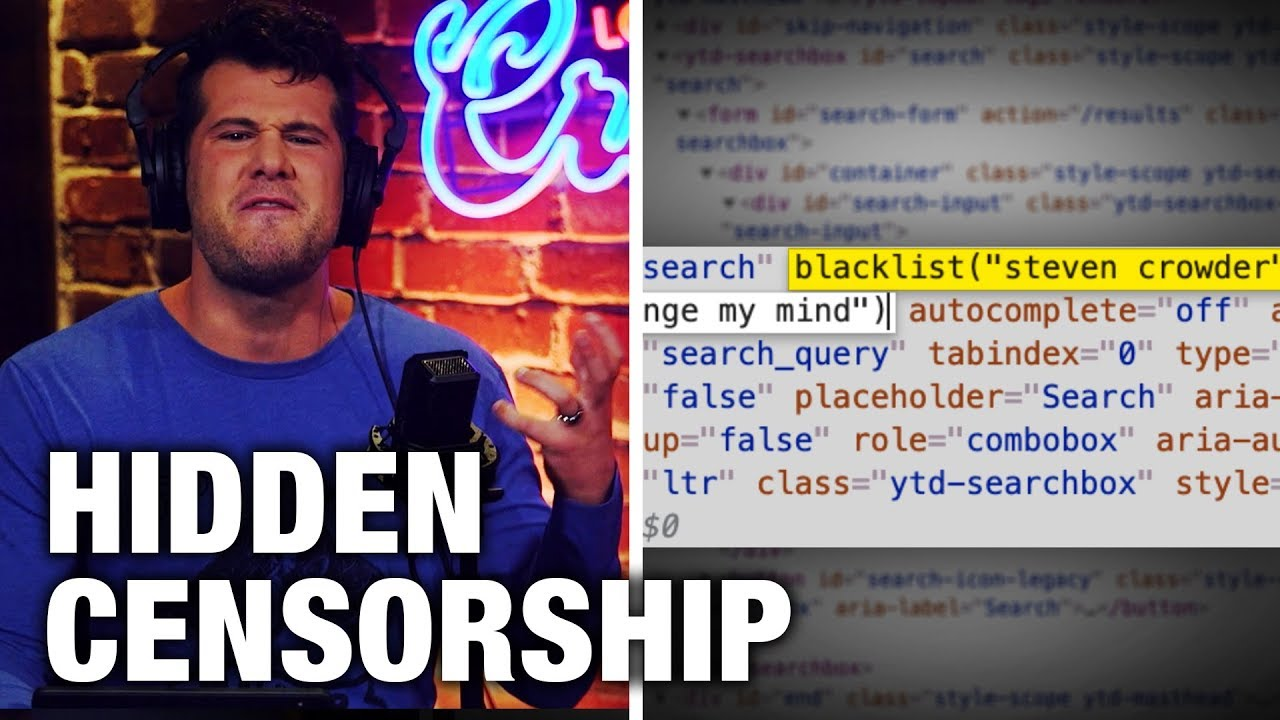 REVEALED: YouTube's NEW, Hidden Censorship Tactics | Louder with Crowder – YouTube