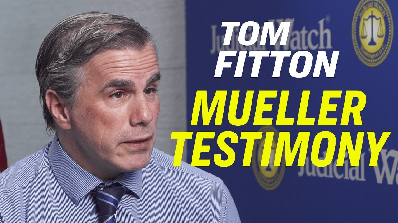 """Our Constitutional Republic is Under Assault""—Tom Fitton on the Trump Tweets & Mueller Testimony – YouTube"