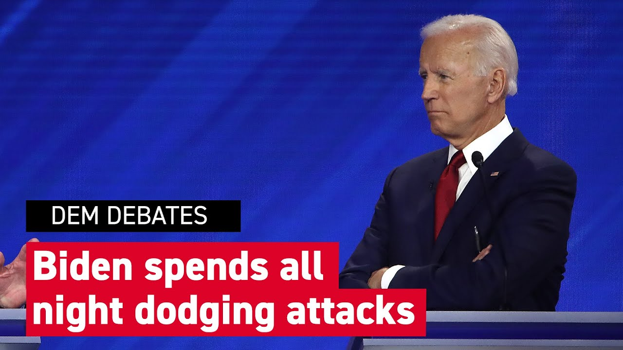 Third democratic debate: Biden dodges dings at Democratic debate – YouTube