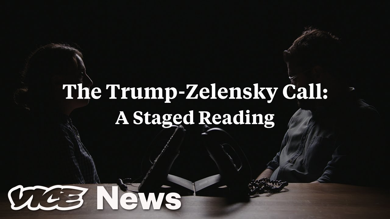 Trump's Phone Call With Ukraine President Zelensky: A Staged Reading – YouTube