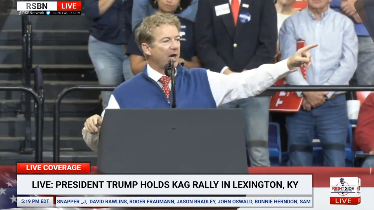 Senator Rand Paul Full Speech at President Trump Rally in Lexington, KY – YouTube
