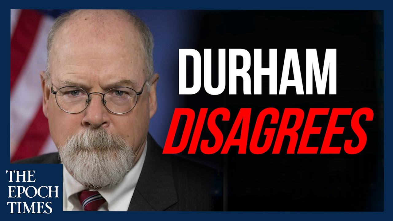 Durham Disagrees With Some Conclusions in Inspector General's Report – YouTube