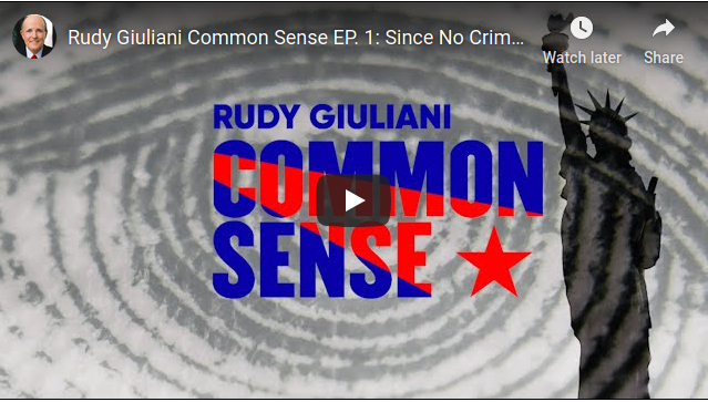 Rudy Giuliani Common Sense EP. 1: Since No Crimes Exist, It Must Be Dismissed – YouTube