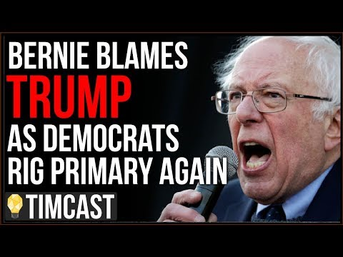 Bernie BLAMES Trump Even As Democrats And CNN Rig Primary Against Him, Sanders Is Not Strong Enough – YouTube