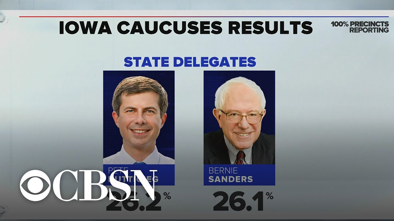 Results are in Buttigieg, Sanders declare victory in Iowa as DNC chair calls for recanvass