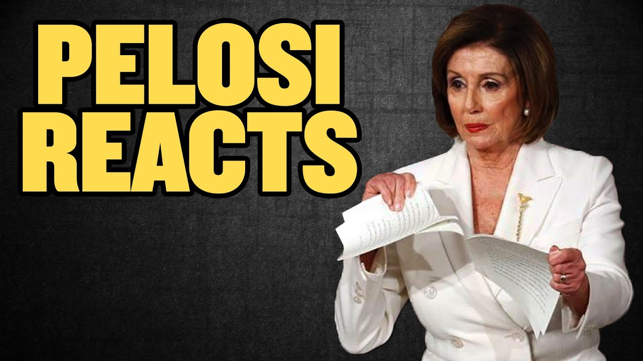 Pelosi Reacts to Trump's State of the Union Speech – in fast motion