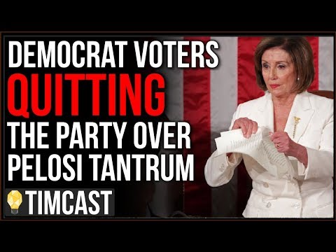 Democrats QUITTING And Vow NEVER To Vote Democrat Again After Pelosi Tears Up Trump's SOTU Speech