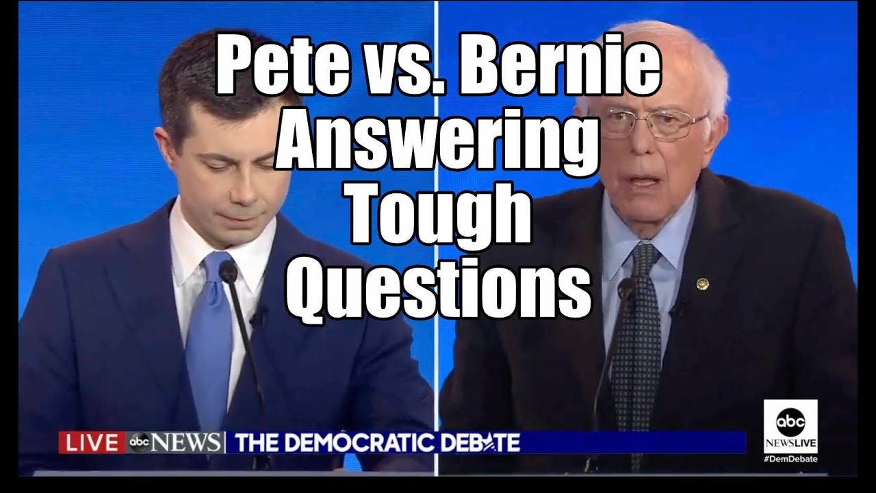 Bernie Sanders vs. Pete Buttigieg – tough questions Manchester NH Debate #PontificatingPete