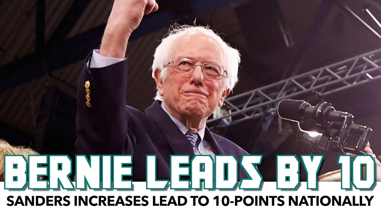 Bernie Expands Lead To 10-Points Nationally Following Primary Win