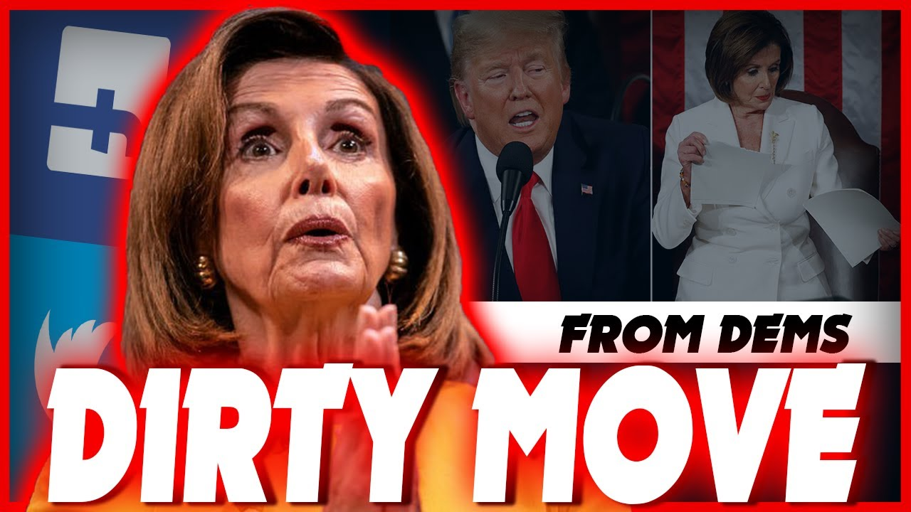 Democrats are looking to Remove Trump's Video, and hide the fact of Pelosi Speech Ripping