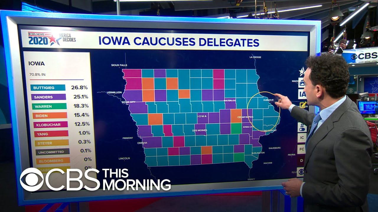 3/4 Caucus results show lead for Buttigieg, popular vote for Sanders
