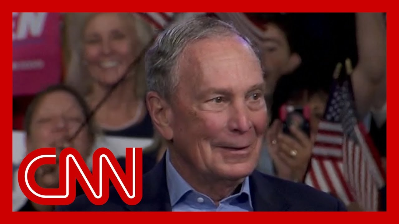 Bloomberg addresses voters as polls close on Super Tuesday