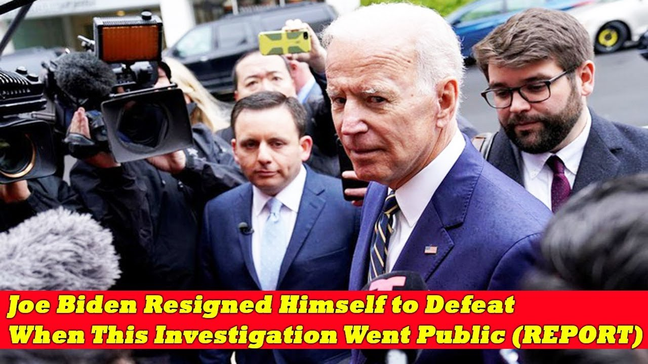 Joe Biden Resigned Himself to Defeat When This Investigation Went Public (REPORT)