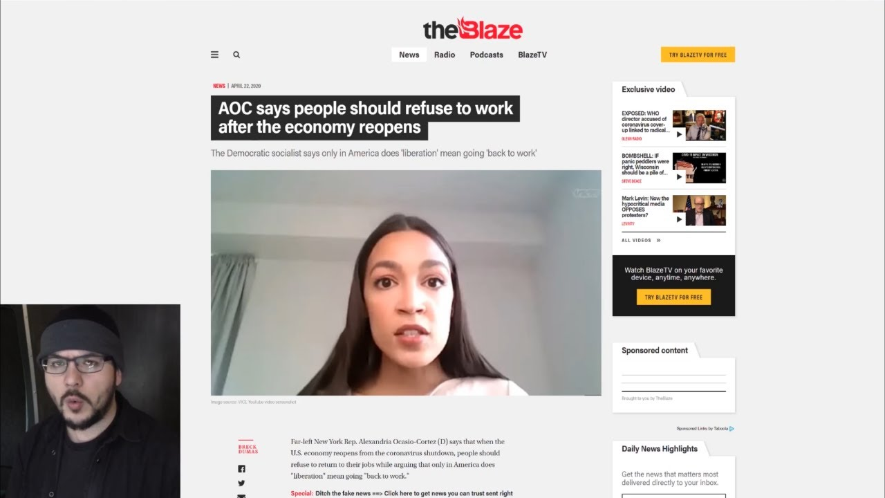 Ocasio Cortez Calls For REVOLT After Economy Reopens Proving Many Leftists Are Spoiled Children