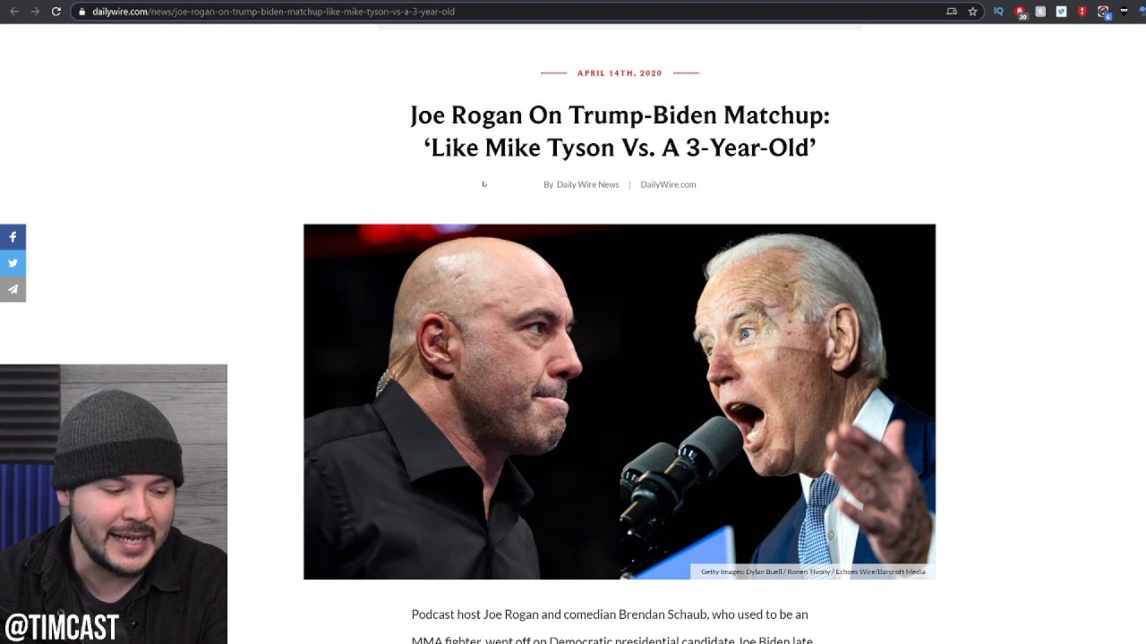 Joe Rogan Says Trump Vs Biden Will be Like Mike Tyson Fighting A 3 Year Old