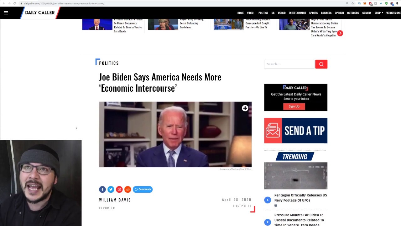 "Crazy Joe Biden Calls For More ""Economic Intercourse,"" It's Time To STOP Protecting This Man"