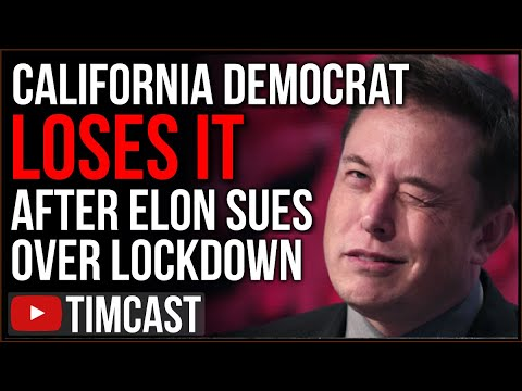 California Democrat LOSES IT After Elon Musk Files Lawsuit Over Unconstitutional Lockdown