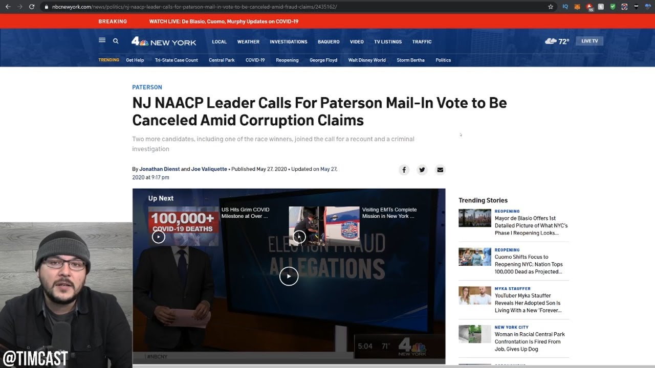 MASSIVE Mail in Voter Fraud Scandal Erupts In NJ, NAACP Leader Demands Vote Be CANCELED