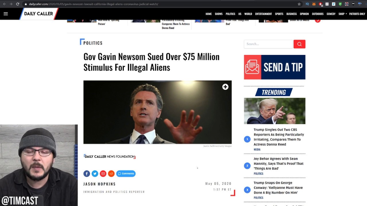 Judicial Watch SUES California Governor For Trying To Give Illegal Immigrants $75 Million