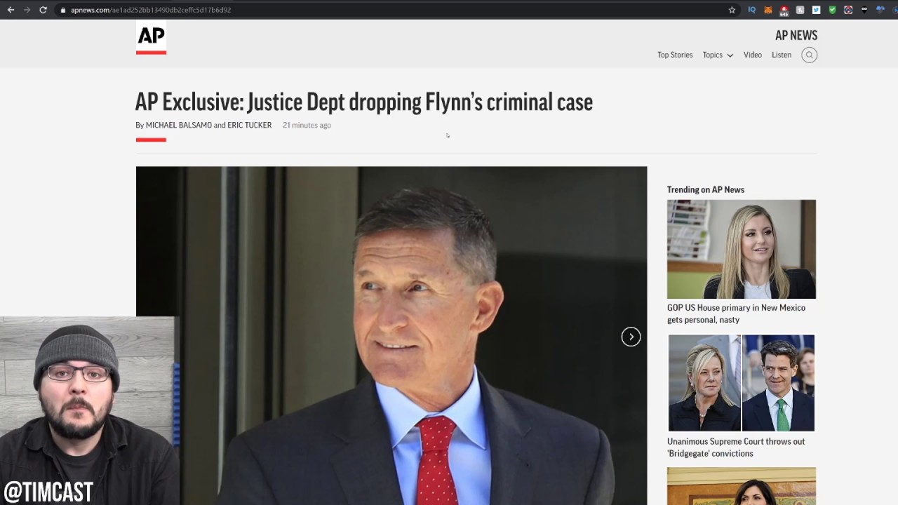 DOJ Has DROPPED Michael Flynn's Case, FBI acted Improperly DOJ Concludes