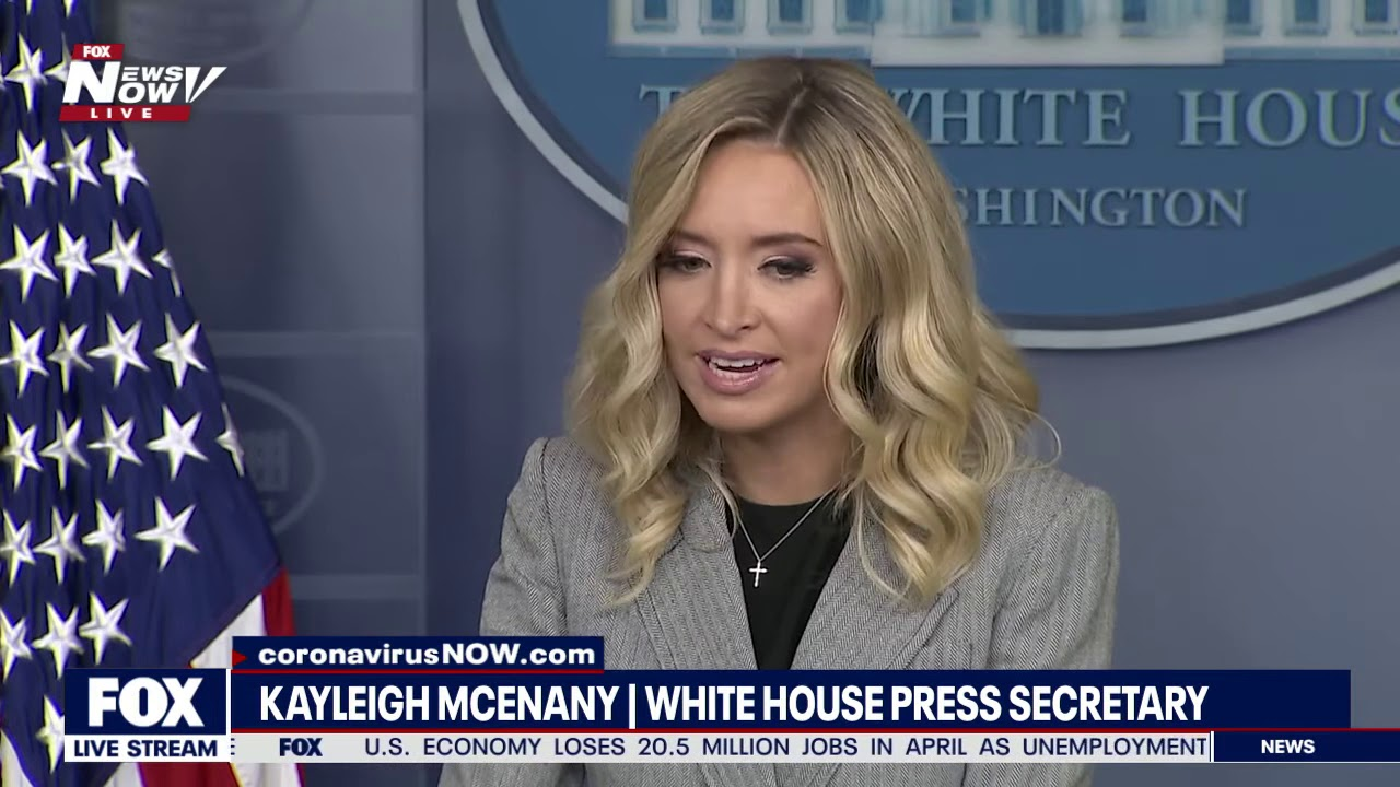 CNN AND MSNBC Did NOT Show THIS | White House Briefing Kayleigh McEnany