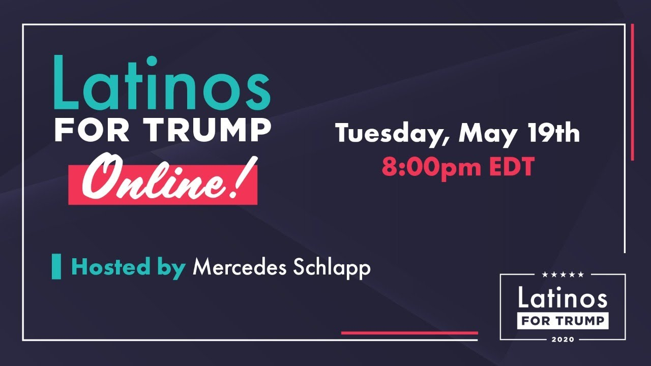 WATCH 8pm: Latinos for Trump Online with Mercedes Schlapp, Sen. Marco Rubio, and MORE!