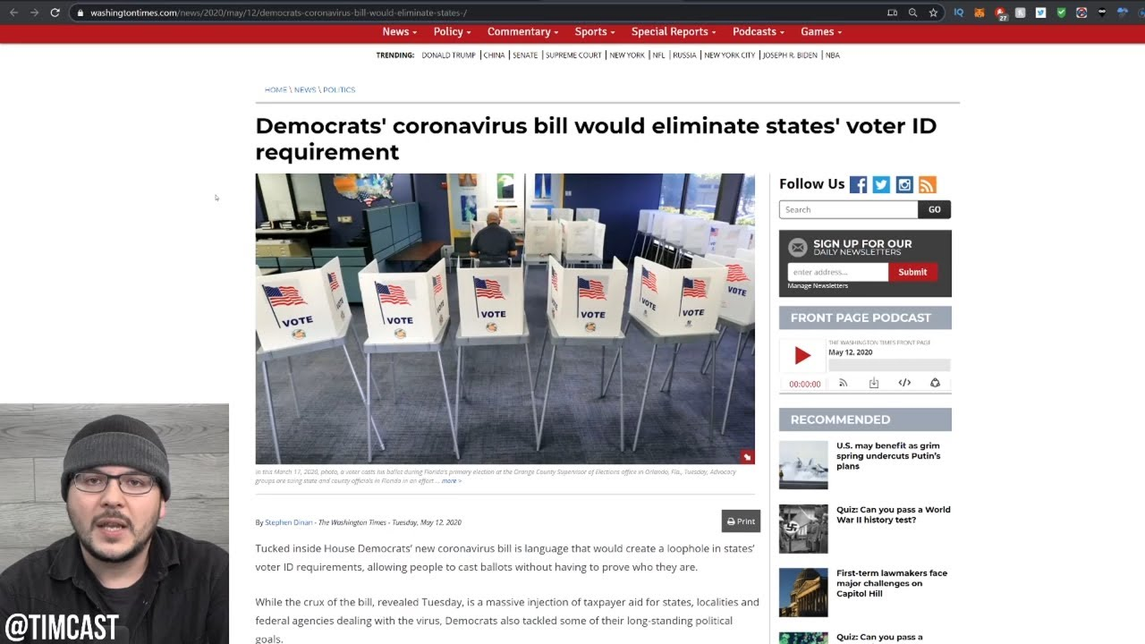Democrats Sneak In Loophole Ending Voter ID Laws Into COVID Relief Bill