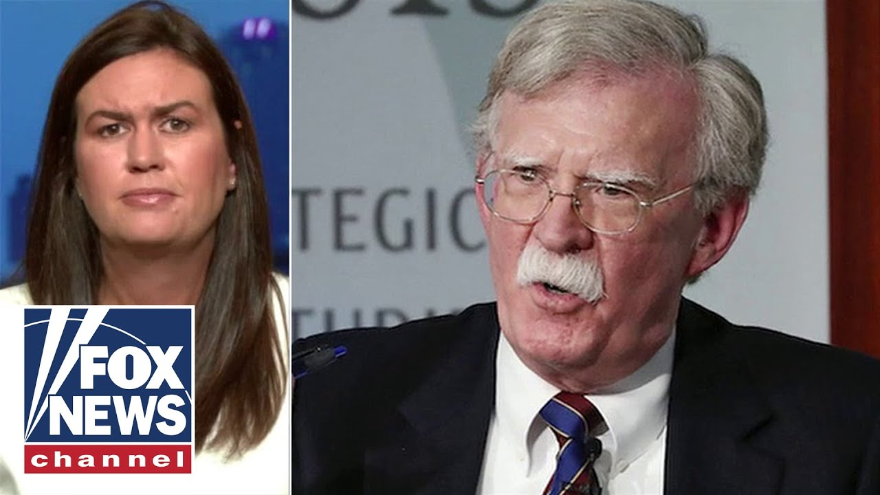 Sarah Sanders: Bolton was 'completely drunk on power' in White House