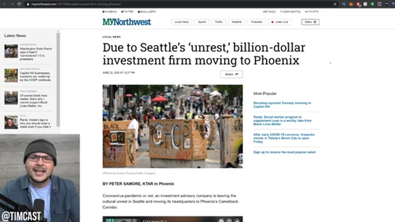 Seattle Loses Billion Dollar Company Over CHAZ Unrest, Real Estate CRUMBLING