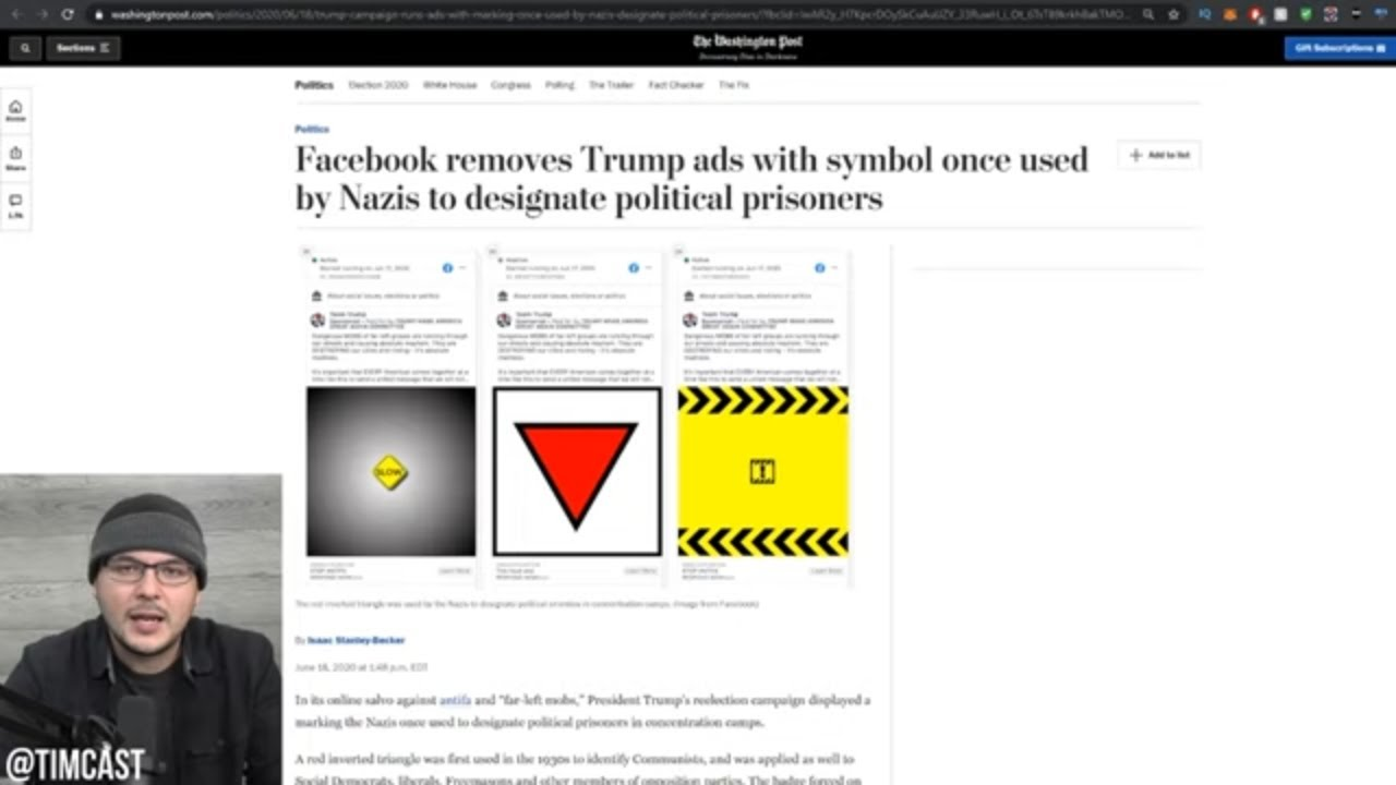 Media Gets Trump Facebook Ads Banned Over Use Of Red Triangle Symbol