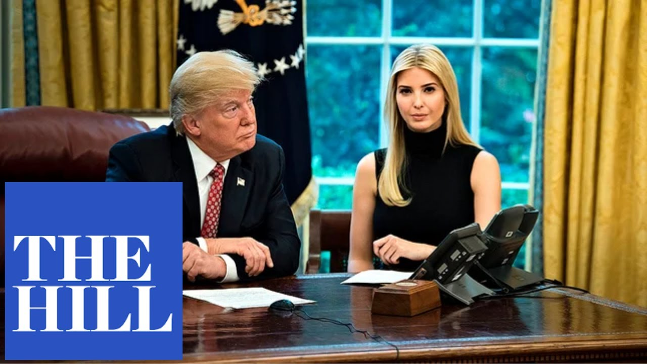"President Trump speaks at a roundtable with Ivanka Trump: ""We're hiring American."""