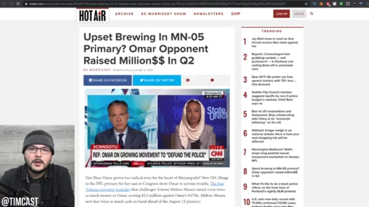 Ilhan Omar On The Verge Of LOSING, Primary Rival Raises SEVEN Times Her Funds