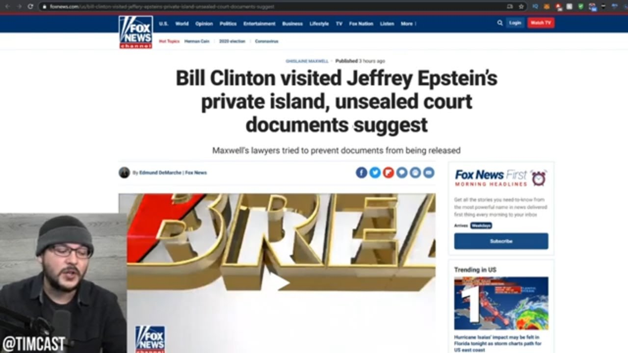 New Documents DIRECTLY Implicate Bill Clinton And Prince Andrew In Epstein Case, CLEAR Donald Trump