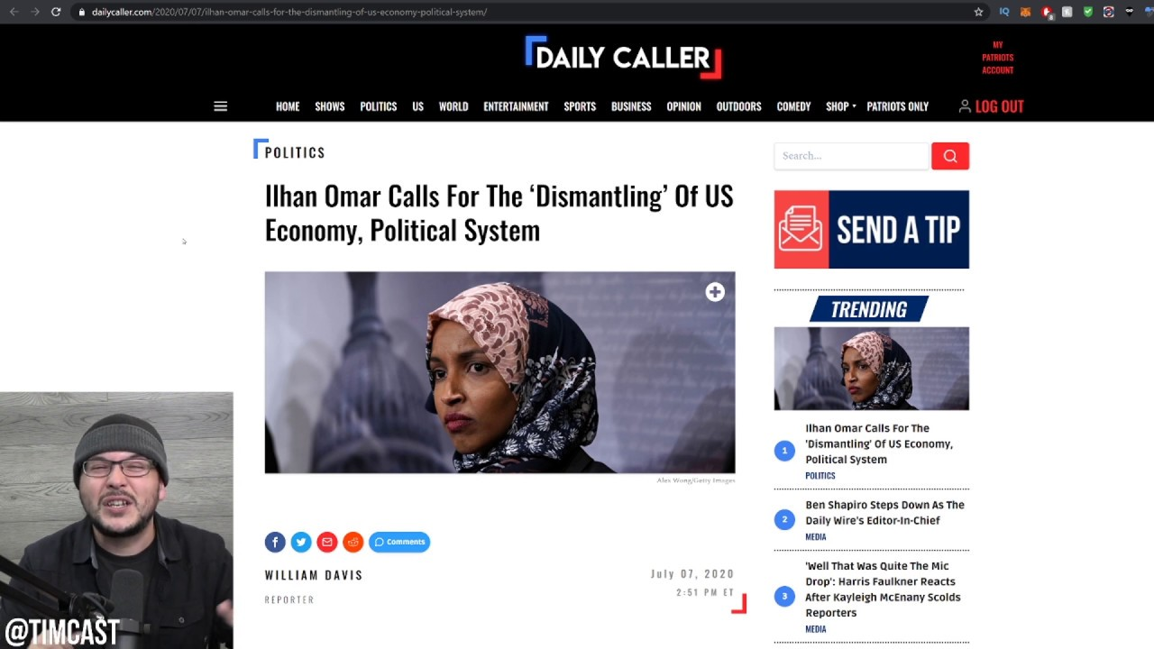 Ilhan Omar Basically Says Abolish Our Political And Economic System