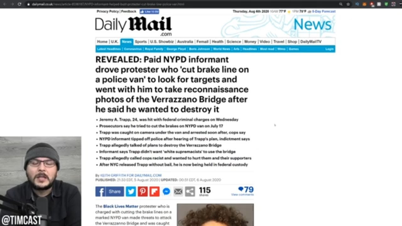 BLM Leftist ARRESTED By FBI For Cutting NYPD Brake Lines, Police Released Him, Feds Were Like NO WAY