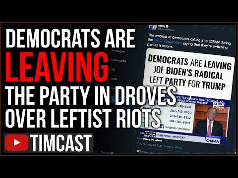 Democrats QUIT The Party in Droves, Voters FURIOUS Over Democrat Support For Riots Will Vote Trump