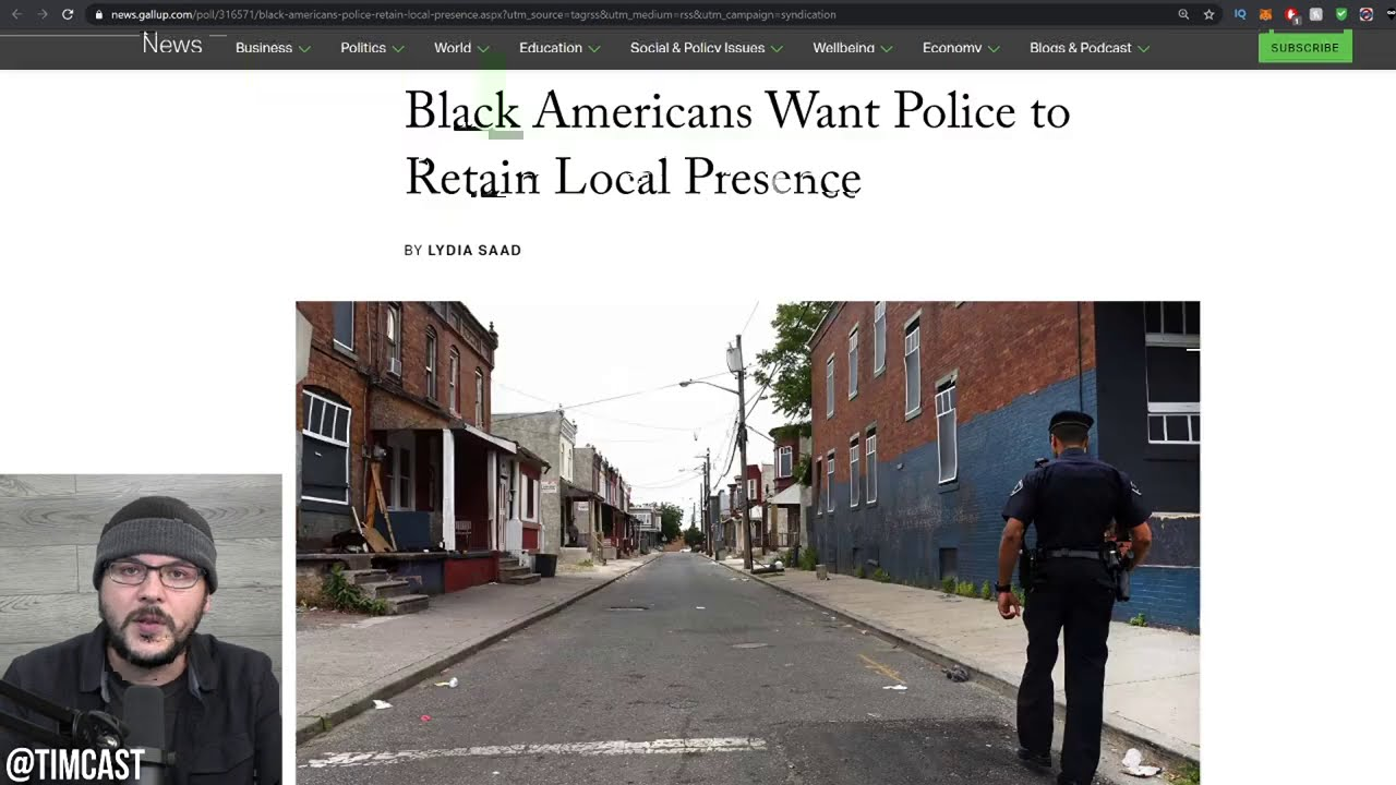 Black Americans Want MORE Police According To Poll, Debunking Defund The Police ENTIRELY
