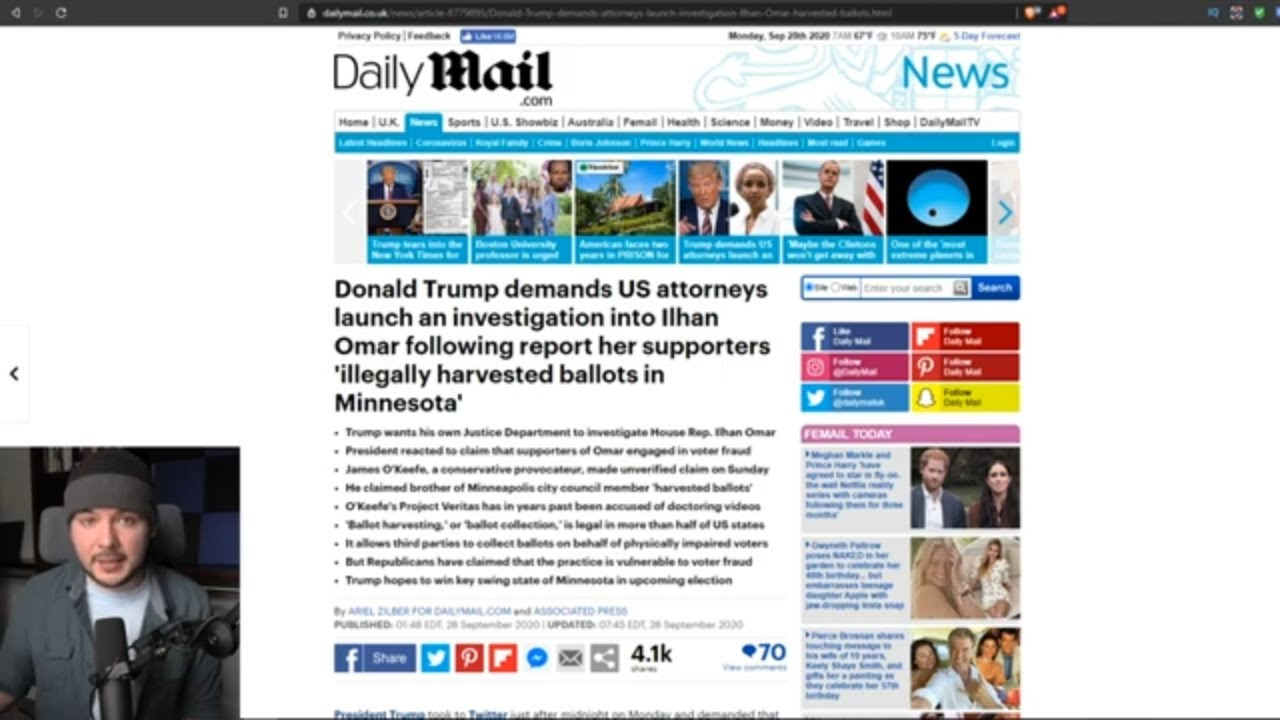 Trump Proven RIGHT After Video Shows Voter Fraud By Ilhan Omar Supporters, He DEMANDS Investigation