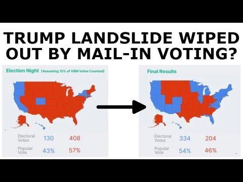 RED MIRAGE? – Trump Election Night Landslide Could Be Wiped Out by Mail-In Ballots