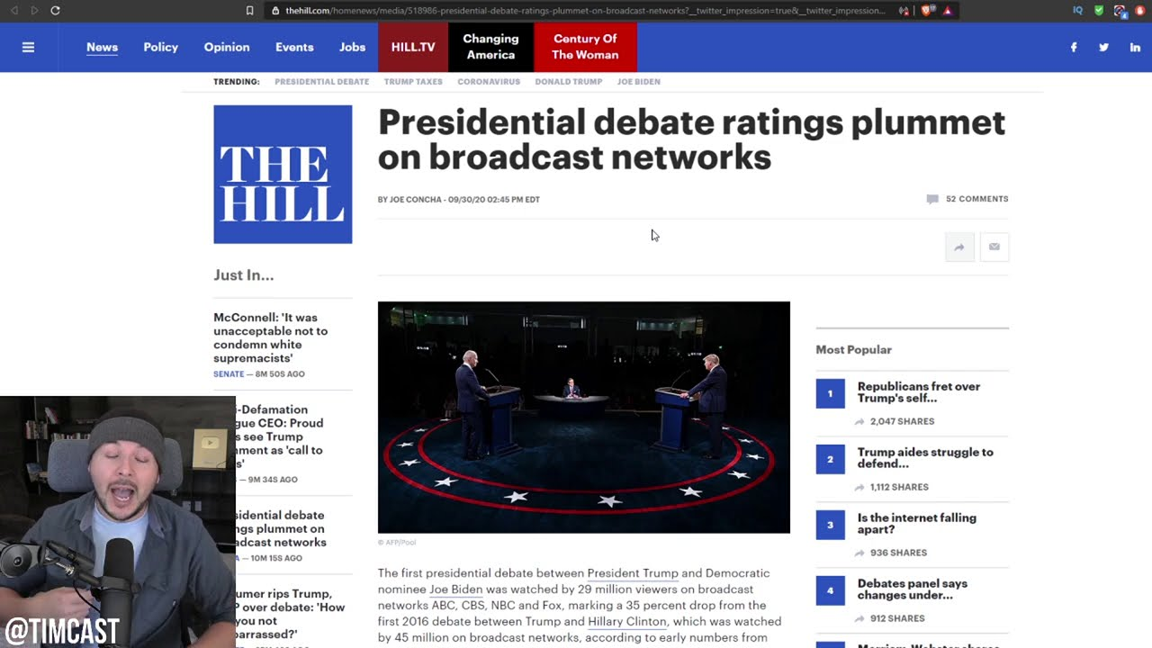 Presidential Debate Ratings PLUMMET By Nearly 65%, Apparently No one Cared About Trump V. Biden