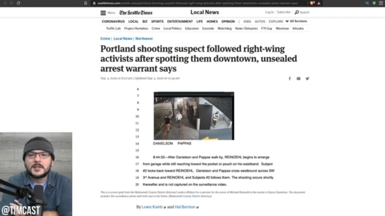 Warrant CONFIRMS Antifa BLM Shooter STALKED Trump Supporter From Behind And Executed Him