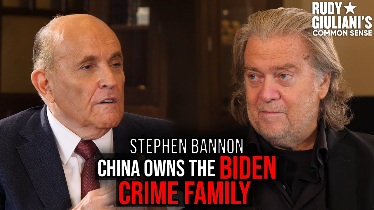 China OWNS The BIDEN Crime Family | Rudy Giuliani and Steve Bannon