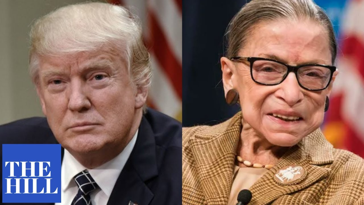 President Trump reacts to Ruth Bader Ginsburg's death