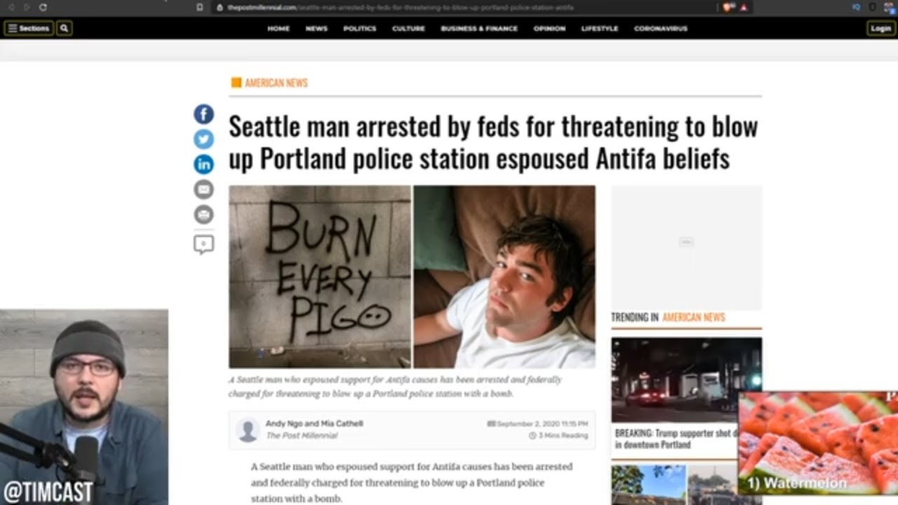 Feds Arrest BLM Antifa Leftist For Sending Bomb Threat To Portland Police, Media PROTECTS Far left