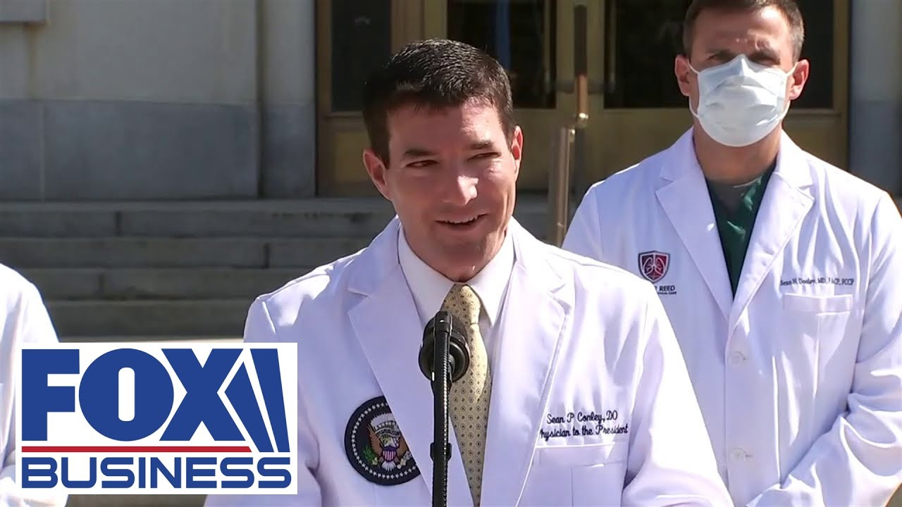Trump's medical team holds press briefing at Walter Reed Medical Center