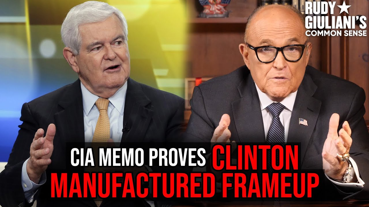 CIA Memo PROVES CLINTON Manufactured Frameup | Newt Gingrich and Rudy Giuliani
