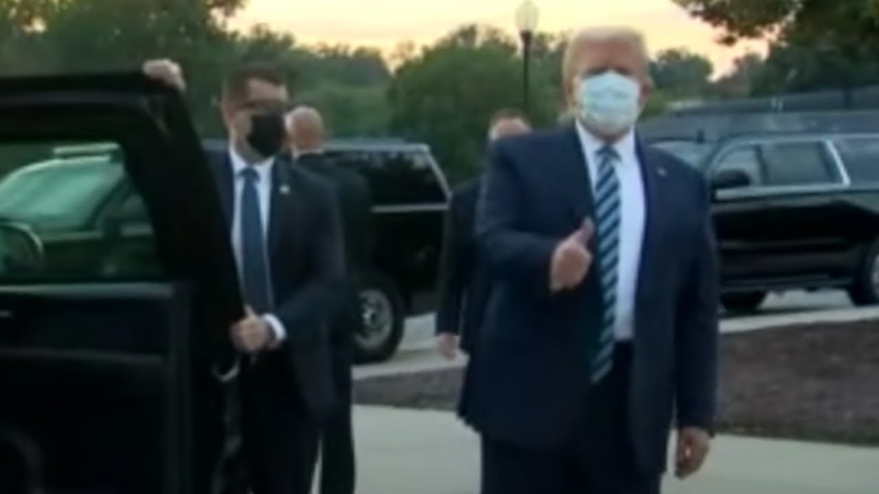 HOUNDED BY THE LIBERAL MEDIA: Trump EXITS Walter Reed LIKE A BOSS on his way Back to the White House