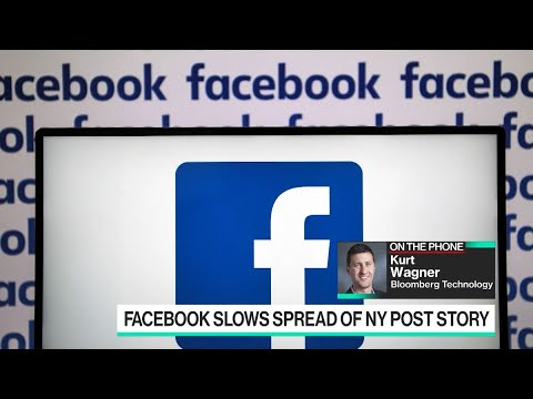 Facebook said it will reduce distribution of a story from the New York Post about Democratic presidential candidate Joe Biden.