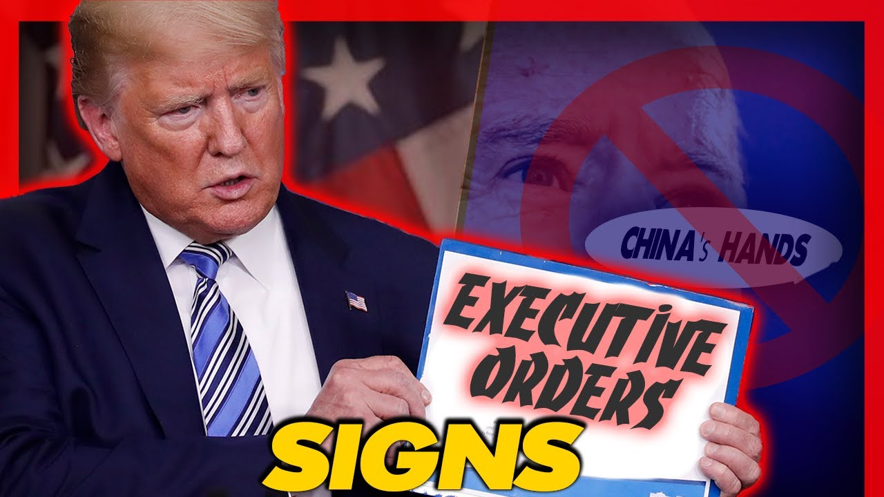 President Trump Signs Series Of Executive Orders Blocking Some of The Chinese Hands on The US…
