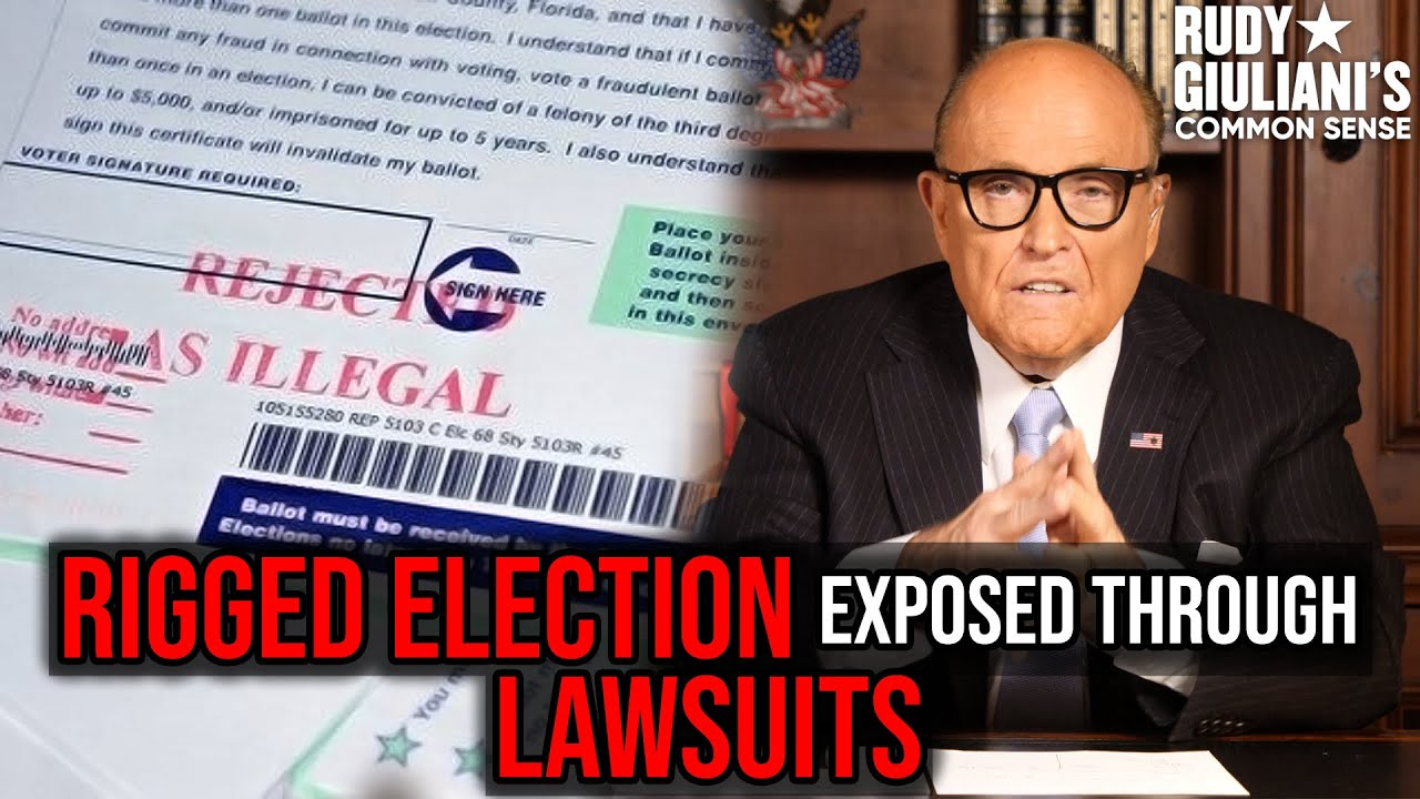 Rigged Election Exposed Through LAWSUITS | Rudy Giuliani